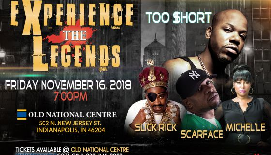 Experience The Legends: Too Short, Slick Rick, Scarface & Michel'le at Murat Theatre