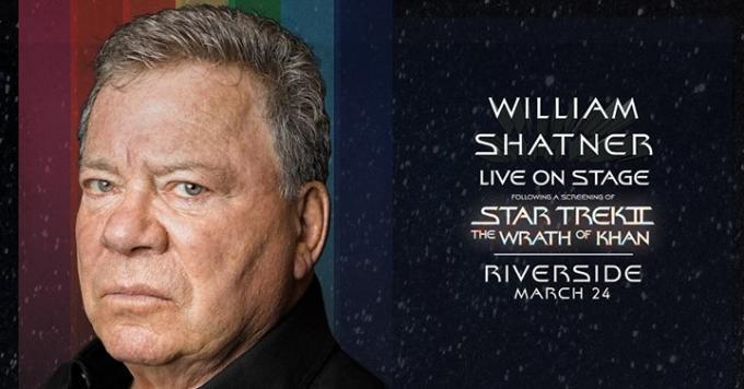 William Shatner - Screening of Star Trek II - The Wrath of Khan at Murat Theatre